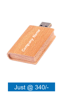 Customized Wooden Book Pen Drive