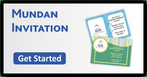 Mundan Invitation Cards