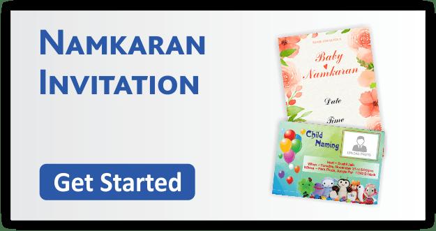 Namkaran Invitation Cards