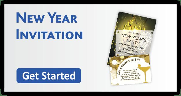 New Year Invitation Cards