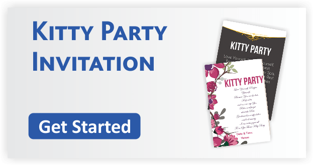 Kitty Party Invitation Cards