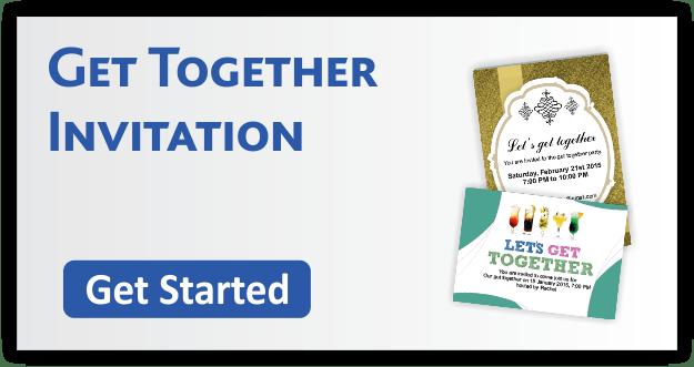 Get Together Invitation Cards
