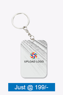 Amazing White Big Rectangular Key Ring