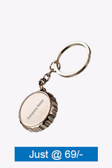 Metal Crown Shape Keychain With Bottle Opener