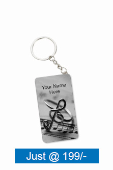 Melodious Theme Small Rectangle Key Chain