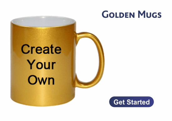 Golden Coffee Mugs