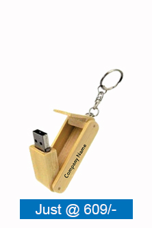 Customized Wooden Folding Key Ring Pen Drive