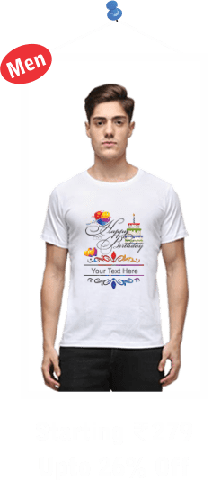 White Round Neck T-Shirts for Mens