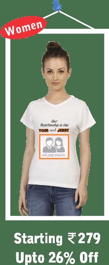 Round Neck Womens White T-Shirts
