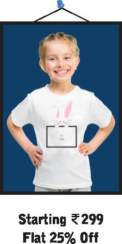Cute Bunny Kids T-Shirts