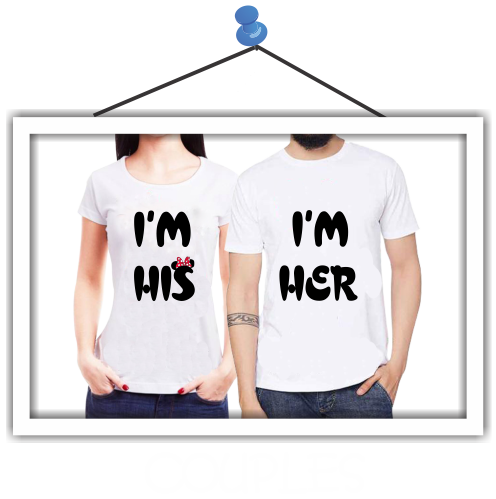 Round Neck T-Shirts for Couple