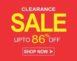 Clearance Sale! Upto 86% Off