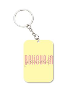Black Big Rectangle Key Chain