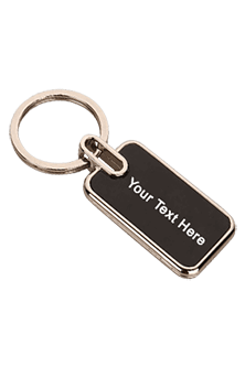 Rectangle Metal Keychain