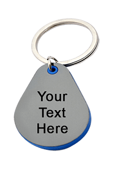 Droplet Shape Keychain